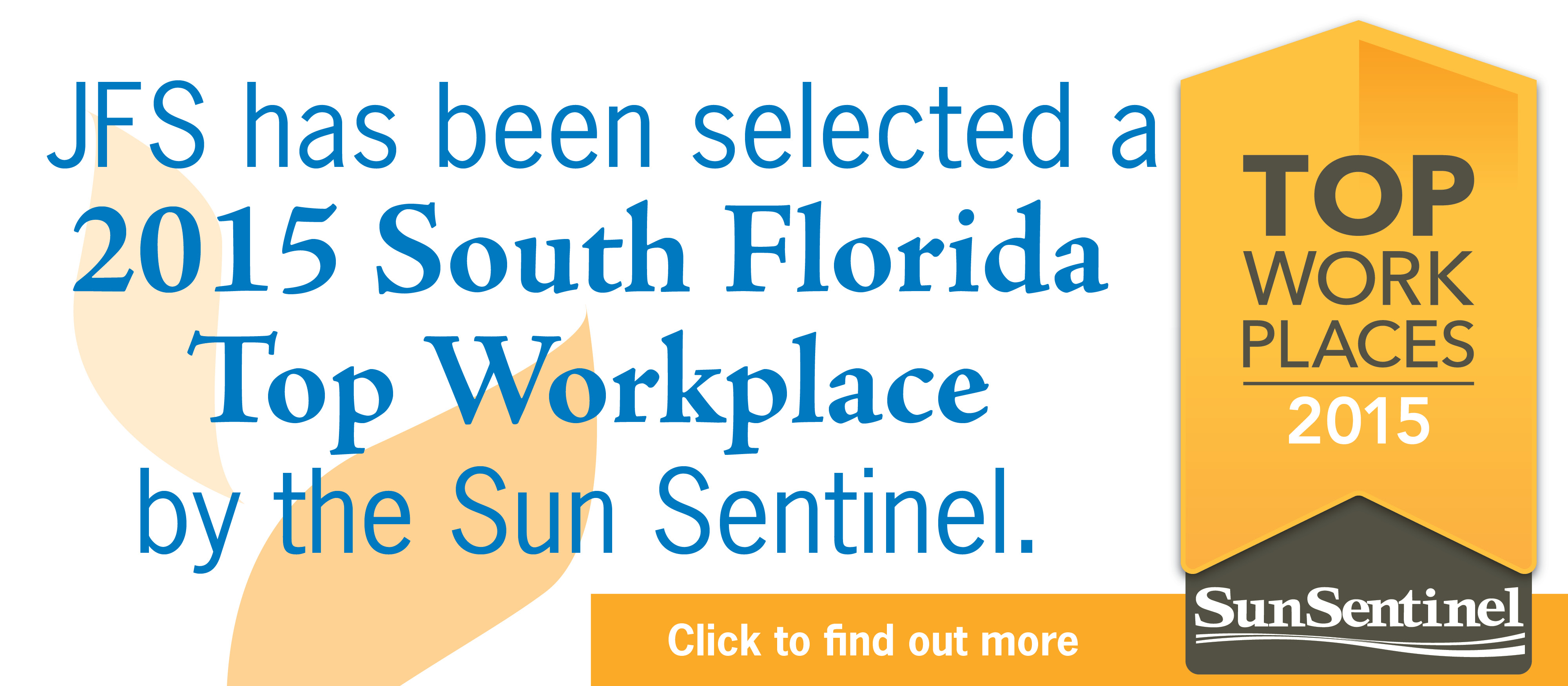 JFS NAMED A 2015 SOUTH FLORIDA TOP WORKPLACE BY THE SUN SENTINEL