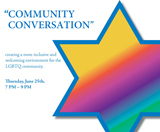 "JFS to Sponsor ""Community Conversation"" for the LGBTQ Community on June 25th"